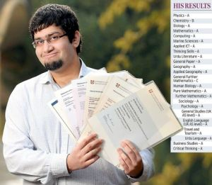 Pakistan: World 7th largest Pool of Scientists and Engineer | Photo : Moin Ali Nawazish making a World Record by passing 23 A level Exams
